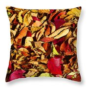 Leaves Of Autumn Throw Pillow