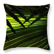 Leaves Of Palm Color Throw Pillow