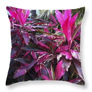 Leaves Of Pink Throw Pillow