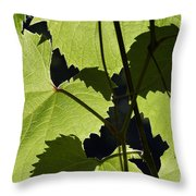 Leaves Of Wine Grape Throw Pillow
