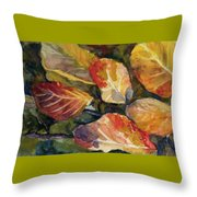 Leaves On A Pond Throw Pillow