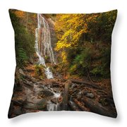 leaves on Mingo Throw Pillow