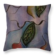 Leaves On Silk Throw Pillow