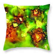 Leaves On The Stream Throw Pillow