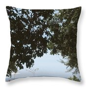 Leaves Roof Throw Pillow