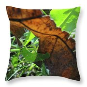 Leaves Still Throw Pillow