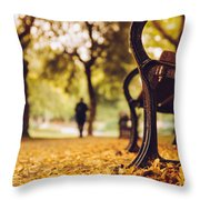 Leaves Strewed The Path Throw Pillow