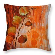 Leaves1 Throw Pillow by Chris Steinken