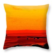 Leaving Basseterre Throw Pillow