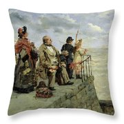 Leaving For Jersey  Throw Pillow