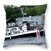 Leaving Harbor Throw Pillow
