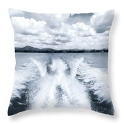 Leaving It Behind Throw Pillow