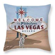 Leaving Las Vegas Throw Pillow