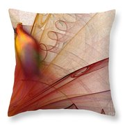 Leaving Marks Abstract Art Throw Pillow