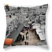 Leaving Old City Throw Pillow