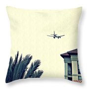 Leaving On A Jet Plane 1      Throw Pillow