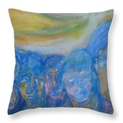 Leaving Our Happy Island For Work In The City Throw Pillow