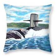 Leaving Pearl Throw Pillow