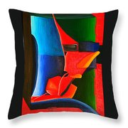 Leaving The Box Throw Pillow