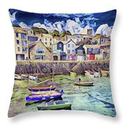 Leaving The Dock Throw Pillow