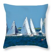 Leaving The Harbor Throw Pillow