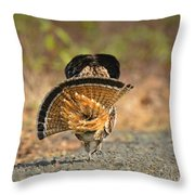 Leaving The Scene Grouse Throw Pillow