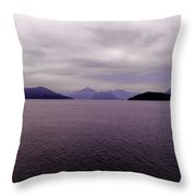 Leaving Vancouver Island Throw Pillow