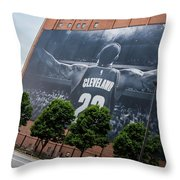 Lebron James Banner Throw Pillow