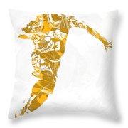 Lebron James Cleveland Cavaliers Pixel Art 14 Throw Pillow