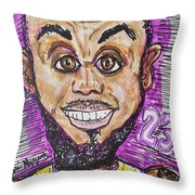 Lebron James Los Angeles Lakers Throw Pillow