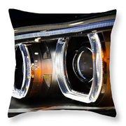 Led Headlights Throw Pillow