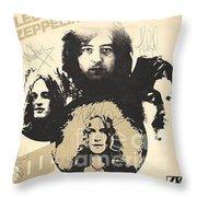 Led Zeppelin Autographed Album  Throw Pillow