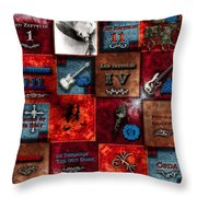 Led Zeppelin Discography Throw Pillow