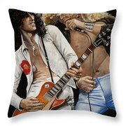 Led Zeppelin Throw Pillow by Tom Carlton