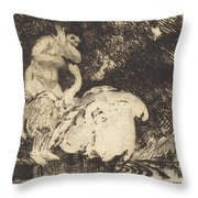 Leda Bathing (l?da Au Bain) Throw Pillow
