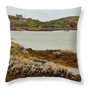 Ledaig Harbour Throw Pillow