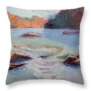 Ledges Afternoon Light Throw Pillow