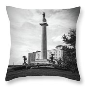 Lee Circle New Orleans Throw Pillow