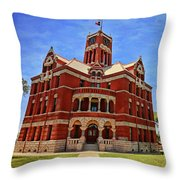 Lee County Courthouse Giddings Texas 2 Throw Pillow