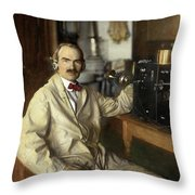Lee De Forest Throw Pillow