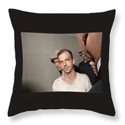 Lee Harvey Oswald Dallas Police Station Dallas Texas Unknown Photographer 1963 Throw Pillow
