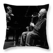 Lee Konitz 1 B And W Throw Pillow