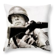 Lee Marvin, Vintage Actor Throw Pillow