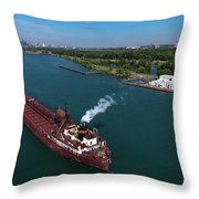 Lee Tregurtha Off Belle Isle Throw Pillow