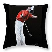 Lee Westwood Throw Pillow