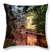 Leeds Castle Gatehouse And Moat Throw Pillow