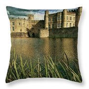 Leeds Castle In Kent Throw Pillow