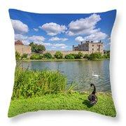 Leeds Castle Kent Throw Pillow