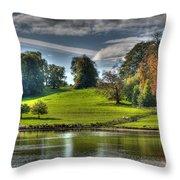 Leeds Castle Lake View Throw Pillow