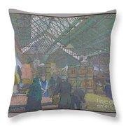 Leeds Market Throw Pillow